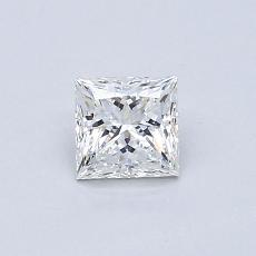 0.51-Carat Princess Diamond Very Good H VVS2