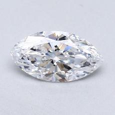 0.74-Carat Marquise Diamond Very Good D VVS1