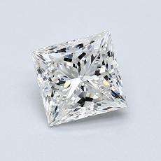 0,91-Carat Princess Diamond Very Good H VVS1
