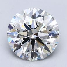 2.09-Carat Round Diamond Ideal F VS2