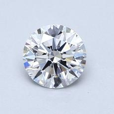 0,75-Carat Round Diamond Ideal D VVS2