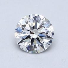 0.80-Carat Round Diamond Ideal E VS2