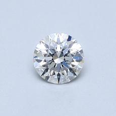 0.40-Carat Round Diamond Ideal E VS2