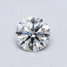 0,70 Carat Rond Diamond Idéale E VVS2