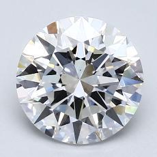 2.02 Carat ラウンド Diamond アイデアル D VS1
