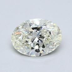 0.76-Carat Oval Diamond Very Good K SI2