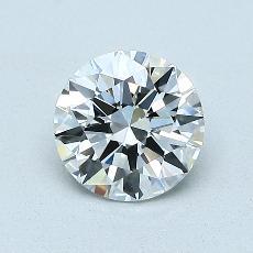 0.90-Carat Round Diamond Ideal I VVS2