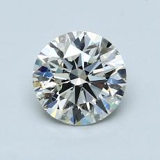 1,02-Carat Round Diamond Ideal I SI1