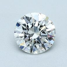 1,06 Carat Rond Diamond Idéale G IF