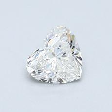 0.50-Carat Heart Diamond Very Good G SI1