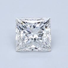 1,06-Carat Princess Diamond Very Good F VS1