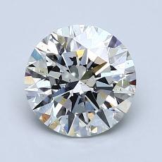 1.71 Carat Redondo Diamond Ideal H VS2