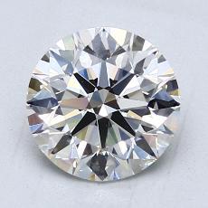 2,04 Carat Rond Diamond Idéale E VVS1