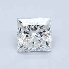 1.00 Carat 公主方形 Diamond 非常好 G VS1