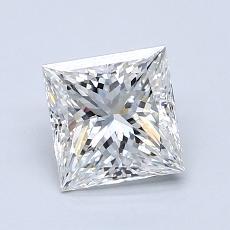 1.21 Carat 公主方形 Diamond 非常好 G VS1