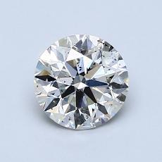 Piedra recomendada 1: Talla redonda de 1.00 quilates