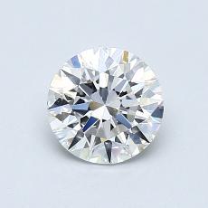 0,70-Carat Round Diamond Ideal E IF