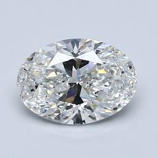 推荐宝石 2:1.04克拉椭圆形切割钻石