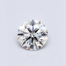 0.50-Carat Round Diamond Ideal F VS2