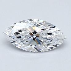 0,75-Carat Marquise Diamond Very Good D IF