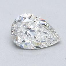 0.90-Carat Pear Diamond Very Good F VVS1