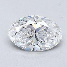 1.00-Carat Oval Diamond Very Good D VVS2