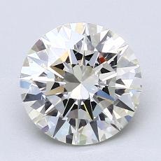 2.02-Carat Round Diamond Ideal J VS1