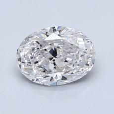 1,00-Carat Oval Diamond Very Good E SI2