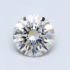 1,02-Carat Round Diamond Ideal J SI1