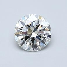 0,80 Carat Rond Diamond Idéale H IF