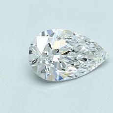 1.04-Carat Pear Diamond Very Good D VVS1