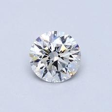 0.50-Carat Round Diamond Ideal E VVS1