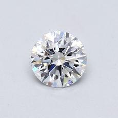 0.50-Carat Round Diamond Ideal D VVS2