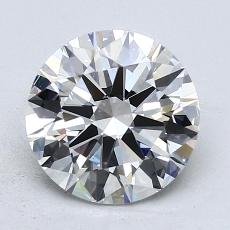 2.01-Carat Round Diamond Ideal E IF