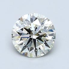 1,30-Carat Round Diamond Ideal K SI1