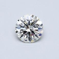 0.51-Carat Round Diamond Ideal F VS2