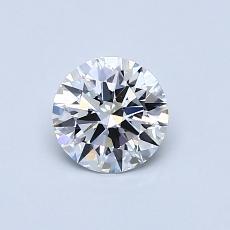 推荐宝石 1:0.58克拉圆形切割钻石
