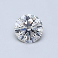 0.60-Carat Round Diamond Ideal H SI1