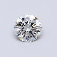 0.50-Carat Round Diamond Ideal I VS2