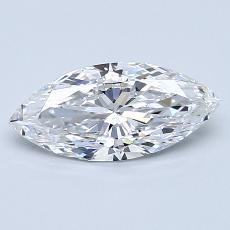 1.00-Carat Marquise Diamond Very Good D IF