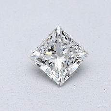 0,41-Carat Princess Diamond Very Good H VS2