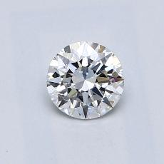 0.50 Carat 圓形 Diamond 理想 E VS1