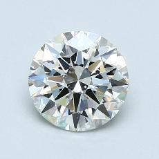 1.00-Carat Round Diamond Ideal H IF