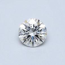 0.41-Carat Round Diamond Ideal F VS2