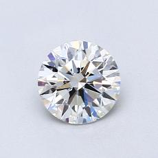 Pierre actuelle: Taille ronde, 0,71carats