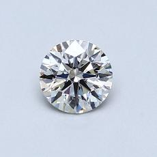 0.51-Carat Round Diamond Ideal H VVS2