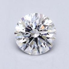 0.75 Carat 圆形 Diamond 理想 D VVS1