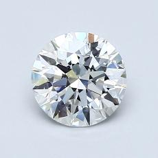 1,06-Carat Round Diamond Ideal E VVS1