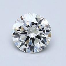 1.00-Carat Round Diamond Ideal I VVS2