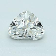 0,90-Carat Heart Diamond Very Good G SI1